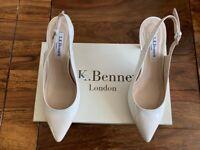 LK Bennett leather white pearlised patent shoe UK 3 36 BNIB RRP £185