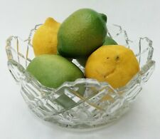More details for pressed glass vintage fruit bowl with stepped rim
