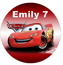 Cars Lightning Mcqueen Personalised Cupcake Toppers Edible Wafer Paper