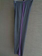 Woman Within Cotton Blend Jersey Knit Elastic Waist  Pants 1X 22-24 Petite Steel