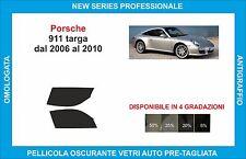 pellicole oscuranti vetri porsche 911 targa dal 2006-2010 kit anteriore