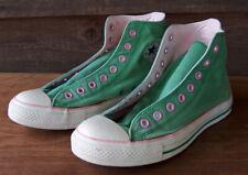 Vintage Converse All Star Pink & Green Hi Top Tennis Shoes Womens 11 Mens 9