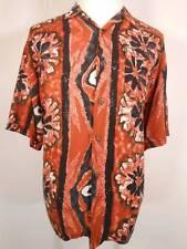 Tropical Men's XL Pineapple Connection Multi-Color Floral Design Button Shirt