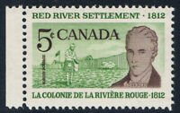 Canada #397ii(5) 1962 5 cent RED RIVER SETTLEMENT LORD SELKIRK HB MNH CV$9.00