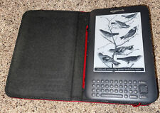 Amazon Kindle Keyboard 3rd Gen | D00901 |Graphite WiFi 4GB With Cover Tested