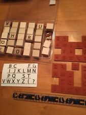 Stampin' UP Rubber Stamps Set Lot #6 Complete Alphabets Upper And Lower Case