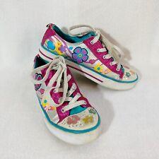 Xhilaration Girls Light-Up Canvas Floral Sneaker Shoes Size 4