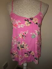 Miss Selfridge Size 6 Women's Pretty Pink Sequin Bead Sparkle Delicate Strap Top