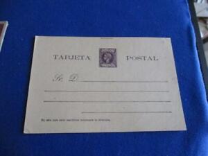 PUERTO RICO 1800'S POSTAL  CARD, MINT, ENTIRE, 2 CENTS