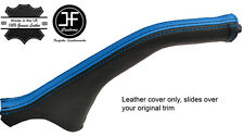 BLACK & BLUE STRIPE LEATHER HANDBRAKE BOOT FOR MITSUBISHI MAGNA DIAMANTE 99-03