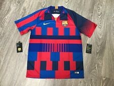 Nike FC Barcelona 20th Anniversary Home Stadium Soccer Jersey Mens L 943025-456