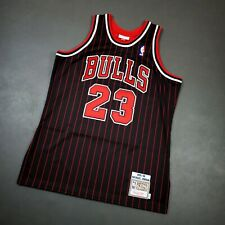 100% Authentic Michael Jordan Mitchell & Ness Pinstripe 95 96 Bulls Jersey 44 L