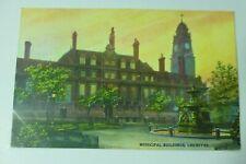 i927 MUNICIPAL BUILDINGS LEICESTER Postcard 1900s