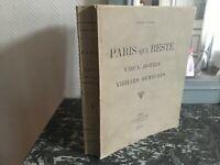 René COLAS PARIS QUI RESTE Vieux Hotels veilles Demeures Librairie d'Art 1914