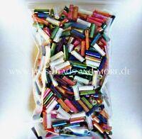 Super schöne Rocailles Glas Stiftperlen 3 Farben Mix mit Regenbogeneffekt 20g