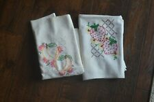 New listing Vintage Dish Bar Towel or Tablecloth Fruit Strawberry Peach lot