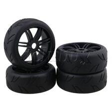 4x H Pattern Rubber Tyre + Double 7 Spoke Wheel Rim for  RC1:8 Off-Road Car
