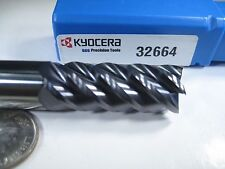"KYOCERA SGS CARBIDE 1/2"" 5 FLUTE 32664 MILLING END MILL MACHINIST LATHE TOOL BIT"