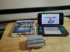 New Nintendo 2DS XL Handheld System Black & Turquoise With 4 Games