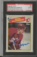 Brad McCrimmon 1988 Topps Autograph #178 SGC Flames