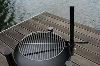V-Halter Grillrosthalter + 30 cm chrome Grillrost für Feuerschalen Feuerstellen