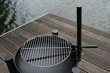 V-Halter Grillrosthalter + 40 cm chrome Grillrost für Feuerschalen Feuerstellen