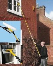 Telescopic Window Cleaner Glass Long Pole 3.5m Squeegee Sponge Mop Extendable UK