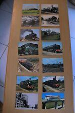 """Cartes postales FRANÇAISE """"de la Machine à vapeur à l'aérotrain""""   14 CPA"""
