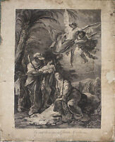 GR-081. ENGRAVING. GIOVANNI BATTISTA TIEPOLO. FLIGHT INTO EGYPT. VENICE. C.1750