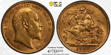 United Kingdom: Sovereign, 1909-London - Edward VII - PCGS AU58 GoldShield