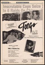 TONGS: A Chinatown Story__Original 1987 Trade screening AD / poster__SIMON YAM