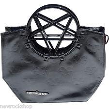 NUOVO Kreepsville 666 Pentagramma Manico Borsetta Bag Black