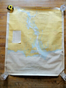 VTG Nautical plotting Chat *CONNECTICUT RIVER-LONG ISLAND SOUND*1962 Map 34 x 41