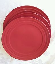 "NICE 1 one) Rachel Ray Double Ridge RED Plates 11"" Dinner EUC set of 3 available"