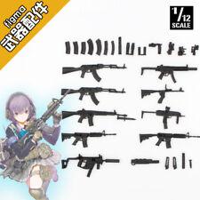 GK1/12 Scale Figma Weapon Gun Mobile Suit Girl Assembly Resin Model GUN Kit 9pcs