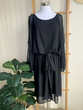 Lisa Brown Designer Black Dress Size L