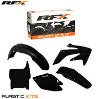 RFX Plastic Kit All Black For Honda CRF 250 2006 2007