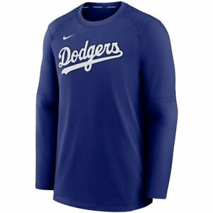 New 2021 Los Angeles Dodgers Nike Authentic Collection Pregame Raglan Sweatshirt