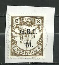 GERMANY KOLONIEN FORMOSA 1914 BRITISH BESETZUNG INVERTED RARE USED
