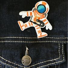Astronaut Iron on patch -  Space travel hero ISS planet moon embroidery patches