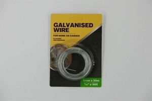 """1mm x 30m Multi-Purpose Galvanised Wire for Garden or Home 1/32"""" X 98ft Wire"""
