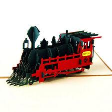 3D Pop Up Retro Train Grußkarte Geburtstag Happy Jubiläum Thanksgiving Day Card