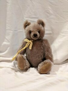 "Vintage Steiff Growler Teddy Bear 16"" Jointed w/ Ribbon"
