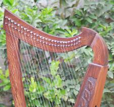 26 Strings Nylon Levers Rosewood Celtic Iirsh Harp Natrual Finish Tuning Key Bag
