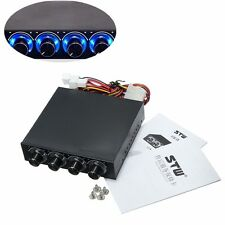 3.5'' BAY PANEL 4 X PC COMPUTER LED COOLING FAN SPEED TEMPERATURE CONTROLLER 10V