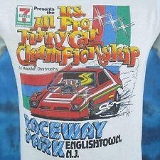 TRASHED vintage 80s RACEWAY PARK FUNNY CAR ENGLISHTOWN NJ PAPER THIN T-Shirt XS