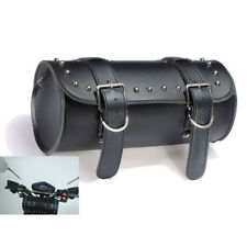 2x Leather Motorbike Motorcycle Tool Roll Saddle Bag Luggage Universal Toolroll