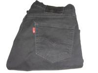 Mens Levi's Strauss & Co. 511 Slim Fit Black (0966) Stretch Denim Jeans W30 L30