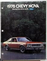 1978 Chevrolet Nova Color Sales Brochure Original