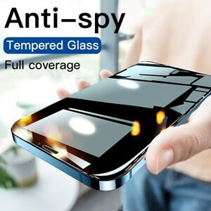 Anti Spy Privacy Tempered Glass Screen Protector For iPhone 7 X XR XS Max 11 Pro